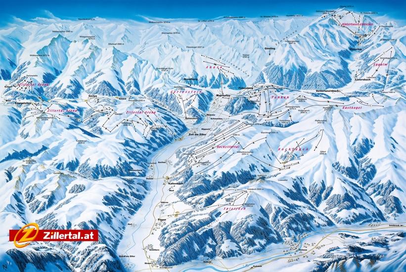 zillertal-fugen-piste-map